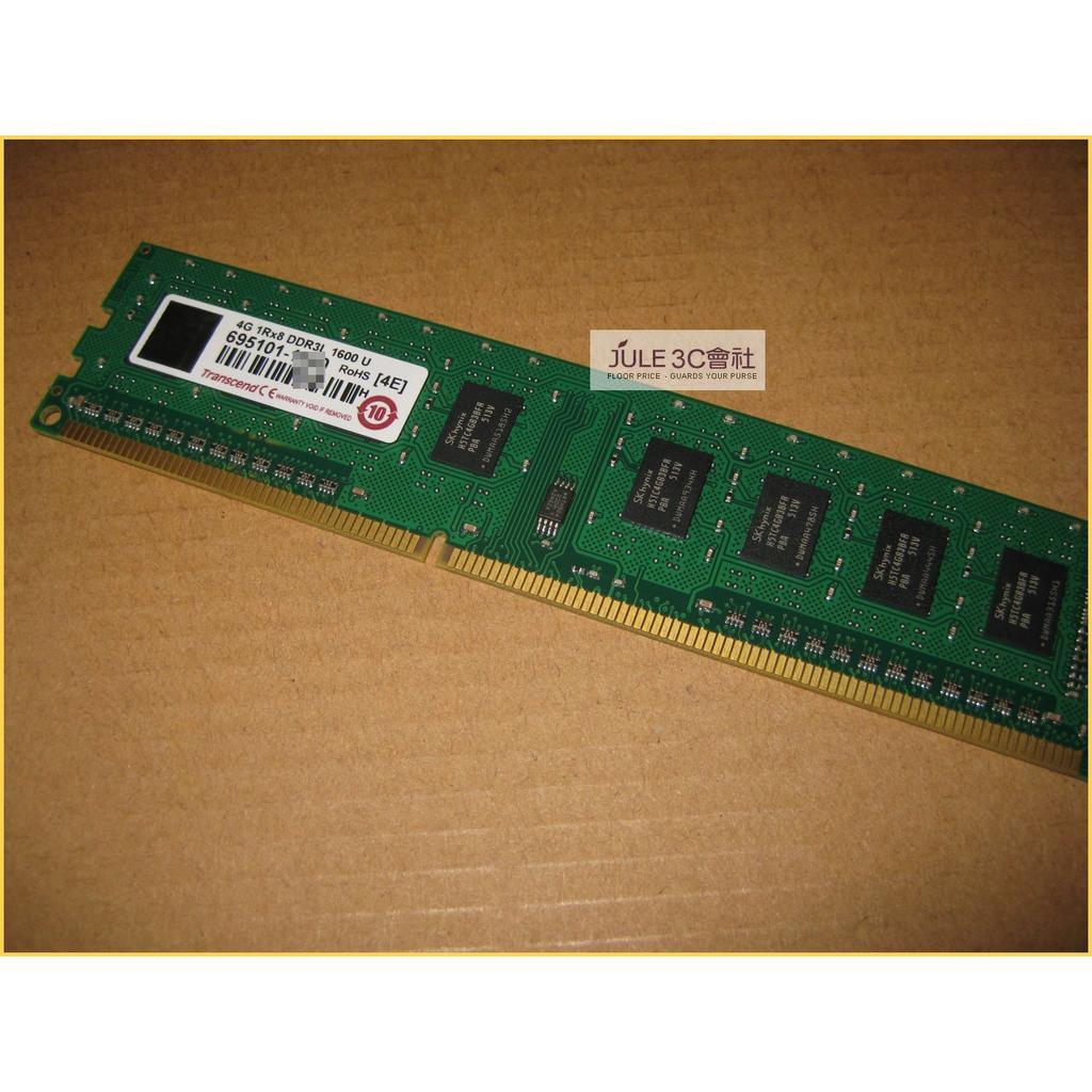 JULE 3C 會社創見TS 系列DDR3L 1600 4GB 4G TS512MLK64