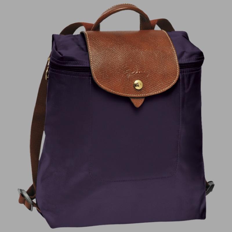 Longch LE PLIAGE 1699 摺疊款藍莓色尼龍後背包雙肩背包