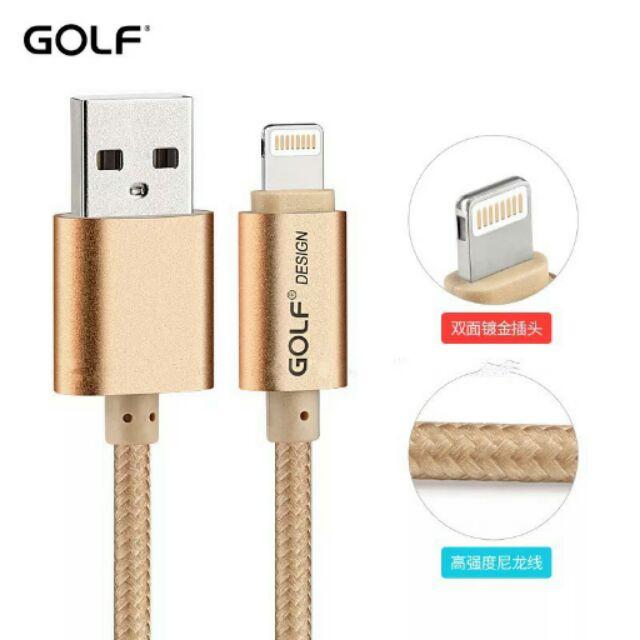 GOLF iPhone 3 米5 6 7 鋁合線金尼龍繩2 1 A 充電線