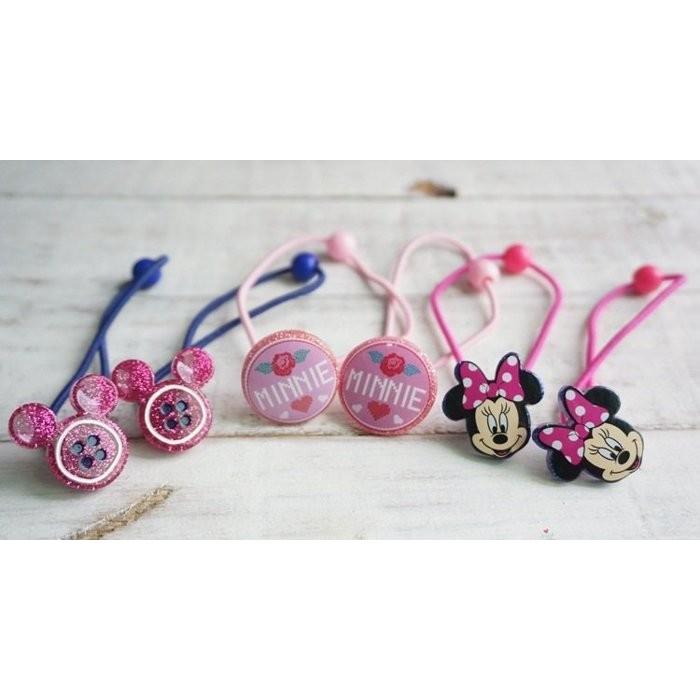 ~草莓花園~C16 出口 米妮外貿女寶寶兒童髮圈髮繩拍照攝影頭飾髮飾一套6 個