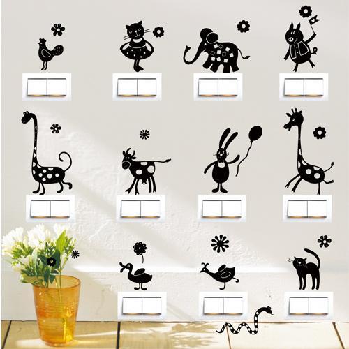 壁貼 無痕Smart Design ◆動物開關貼6 色只能宅配宅配