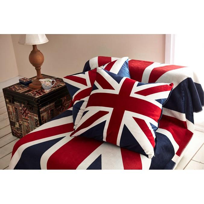 美國國旗/英國國旗/天鵝絨抱枕靠墊/米字旗英倫復古沙發方枕靠墊