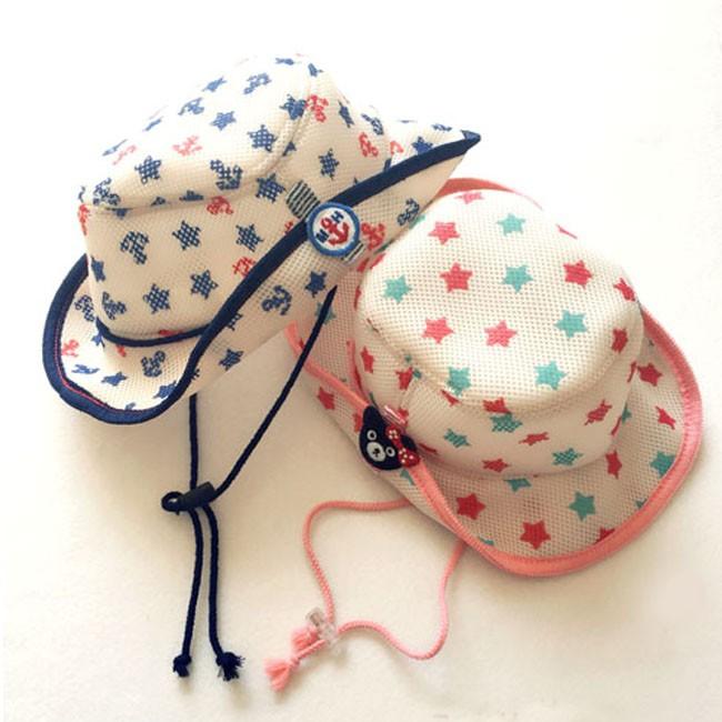 透氣網眼船錨星星漁夫帽牛仔帽遮陽帽帽子童帽兒童帽男童女童