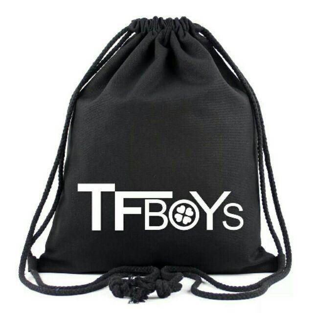 辛普森杯麵TFBOYS 鬍子AOA EXID 蝙蝠俠霸子後背包雙肩包書包帆布袋束口袋後背包