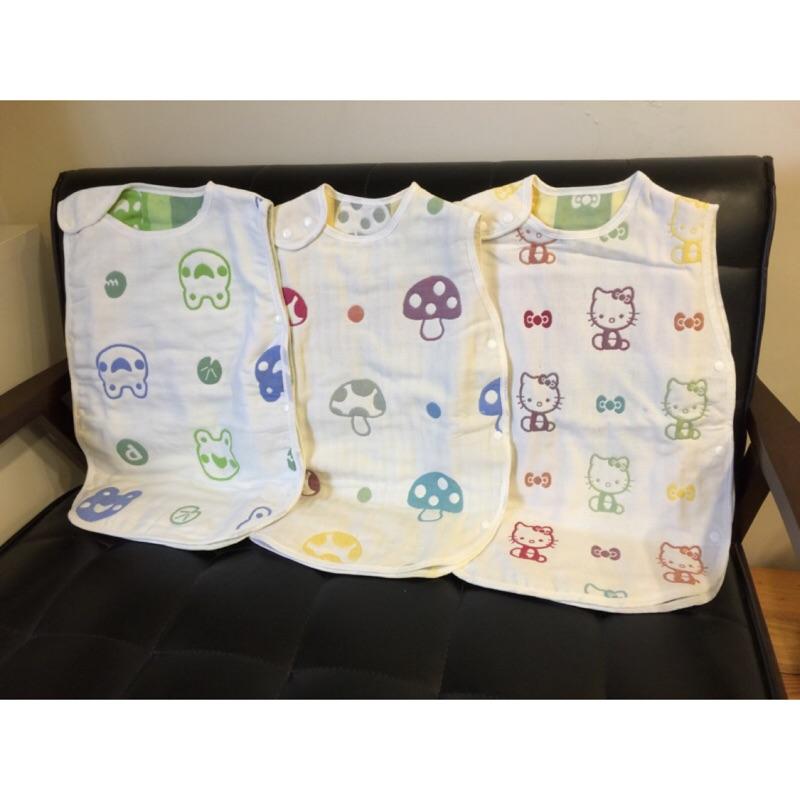 六層紗布防踢被蘑菇6 層紗睡袋六層紗背心 純棉寶寶睡袋嬰幼兒睡毯非 Hoppetta