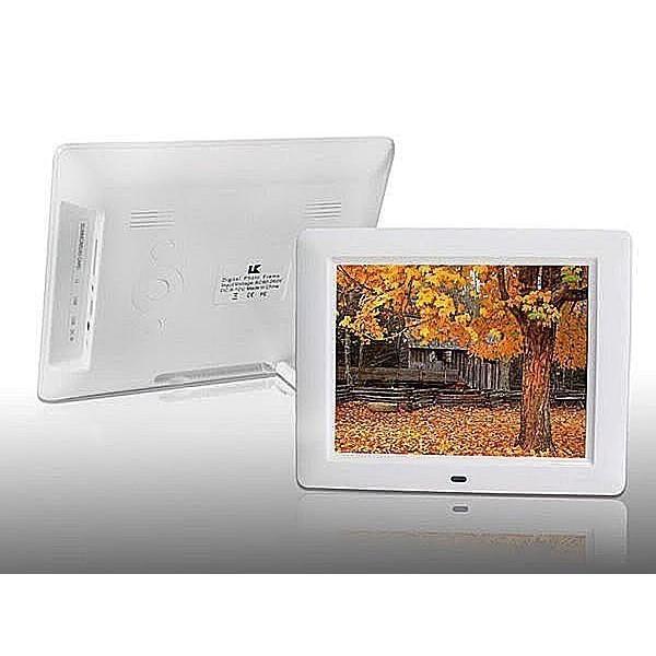 8 吋 電子相框800X600 解晰度數字螢幕影音播放MP3 MP4 內建鬧鈴喇叭節日