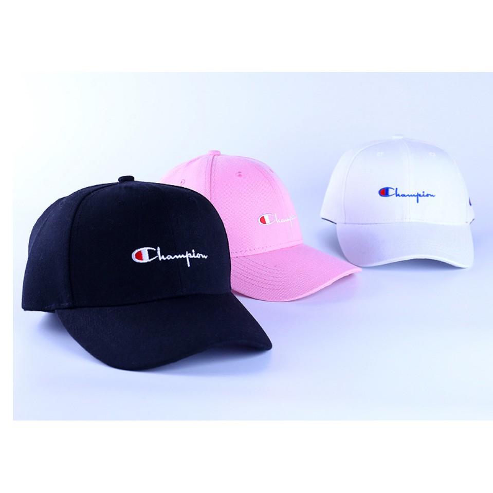 冠軍CHAMPION 同款勾勾棒球帽高爾夫球鴨舌帽彎簷帽子滑板男女