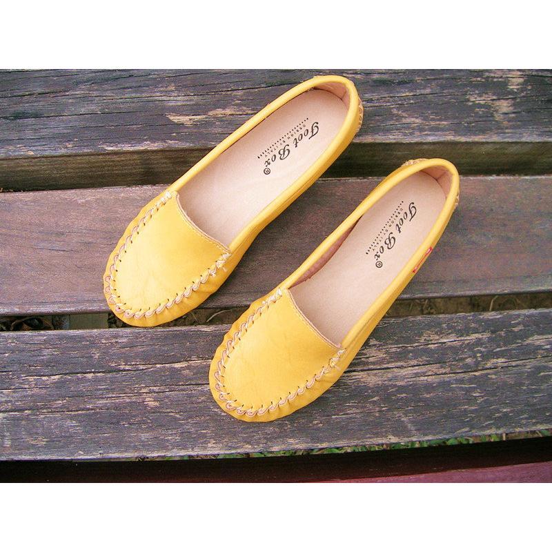 懶人鞋娃娃鞋黃色黑色平底鞋