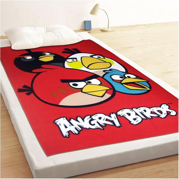 Angry Birds 憤怒鳥飛鳥聚聚樂刷毛毯冷氣毯小涼被薄毯嬰兒毯