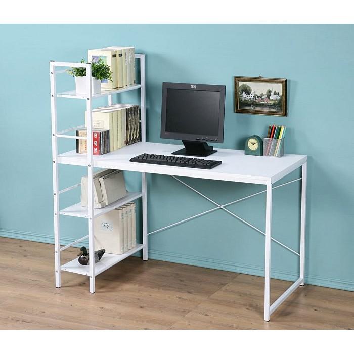 加深60 公分防潑水雙向多 層架工作桌電腦桌書桌兩色~ DE1230 ~可加購鍵盤架、抽屜