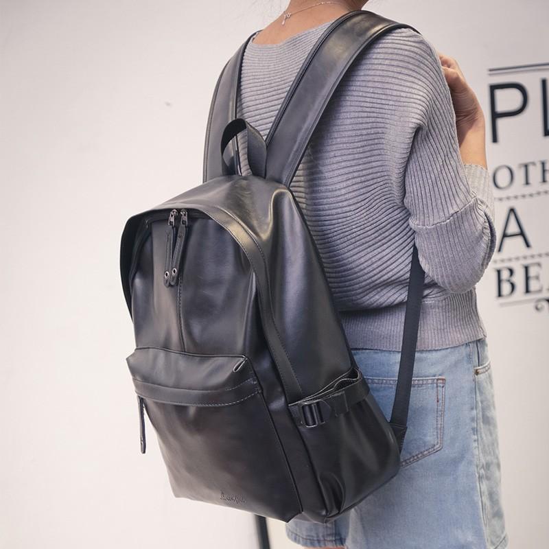 簡約百搭學生包英倫復古雙肩包女 pu 男商務旅行背包電腦包15 6 書包後背包肩背包側背包