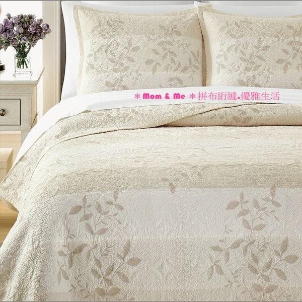 ~Mom Me ~淺米花紋絎縫被套床蓋兩用被〈附枕套〉歐式大罩~本月 價~