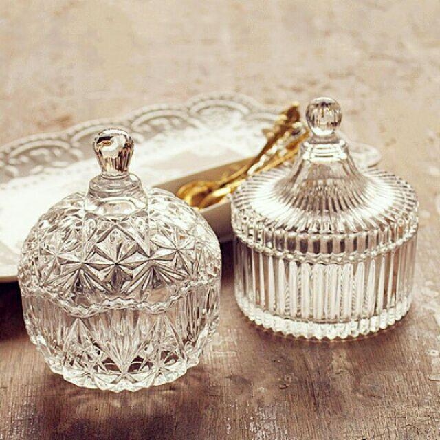 BerryKT Wedding ~婚佈道具~透明玻璃糖果罐儲物罐首飾收納盅~ .拍攝道具.