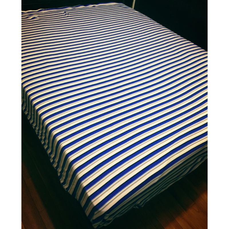 ~加厚~出口 ~天竺長絨棉針織雙人床包,四件組,雙人加大,床包被套枕套無印良品風~足球 風