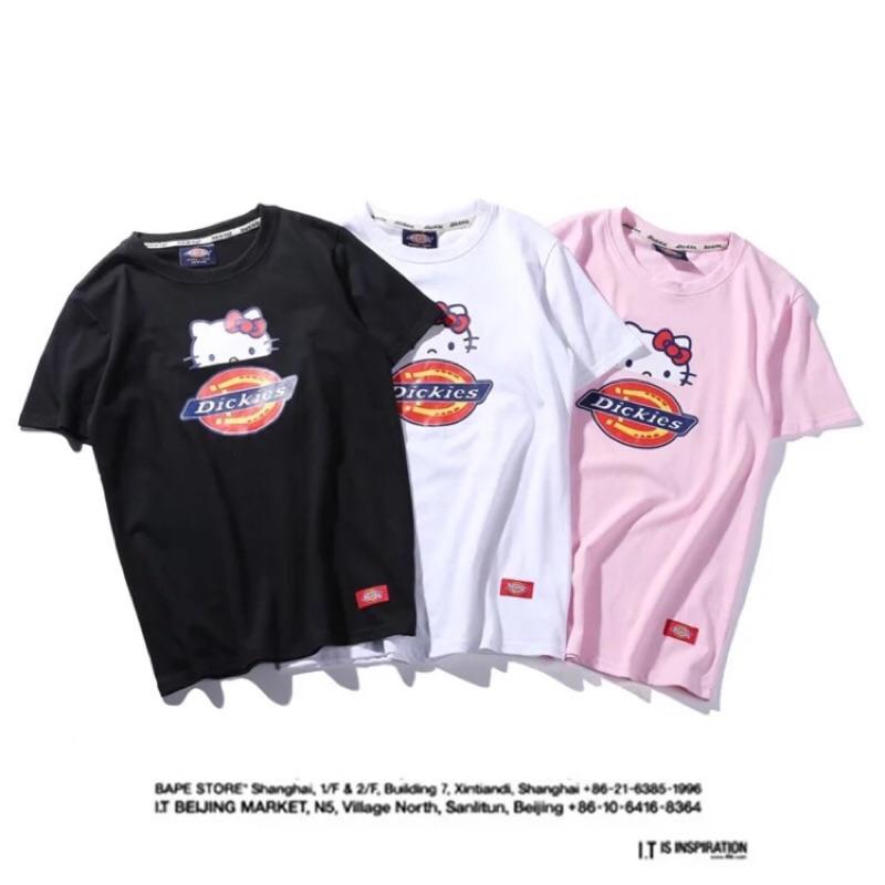 有大 Kitty x Dickies 潮牌聯名款短袖T 恤兩件更 新年 超 kitty 控