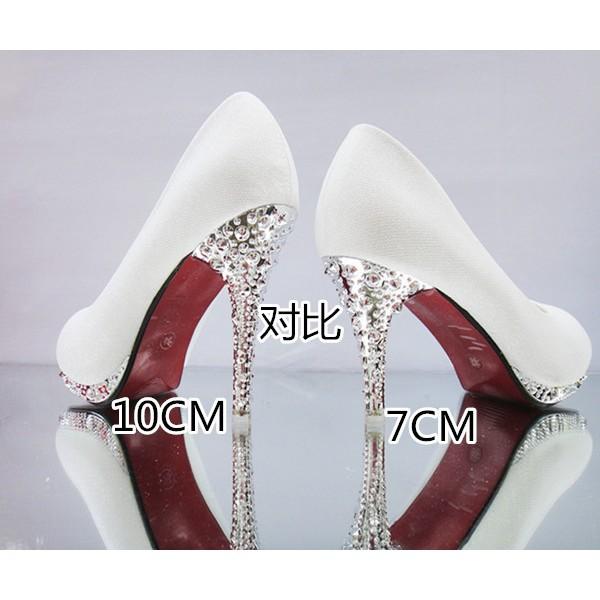 春夏女式中高跟紅色新娘鞋伴娘鞋成年禮單鞋水晶細跟綠色白色婚鞋厚底鞋高跟鞋禮鞋婚禮鞋水晶鞋高