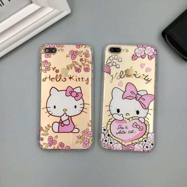 iphone 空壓殼立體浮雕6 6plus 卡通可愛少女HelloKitty 貓7 7pl