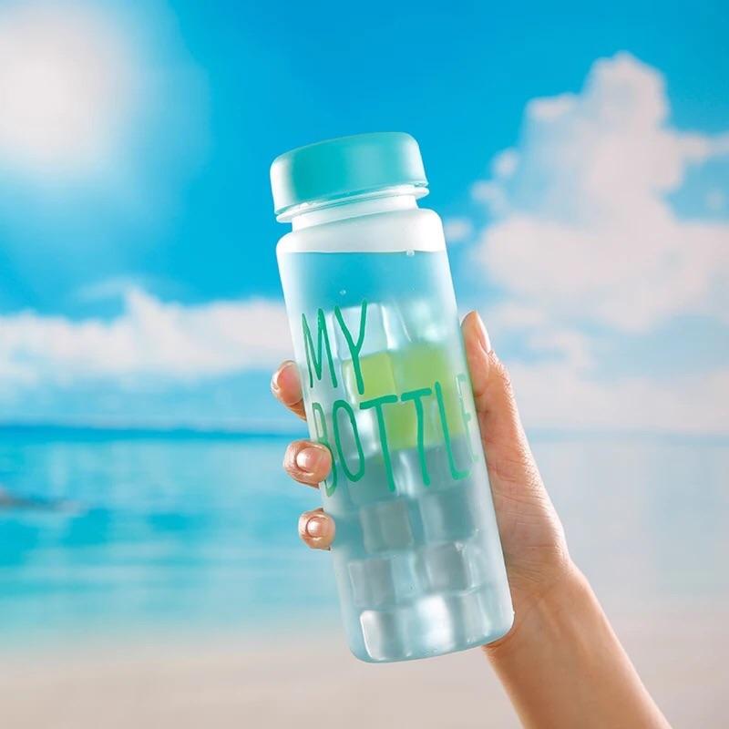 ✌ 杯刷麻布袋✌My Bottle 水杯塑料隨行磨砂杯子韓國學生 便攜帶蓋隨手杯E 起購
