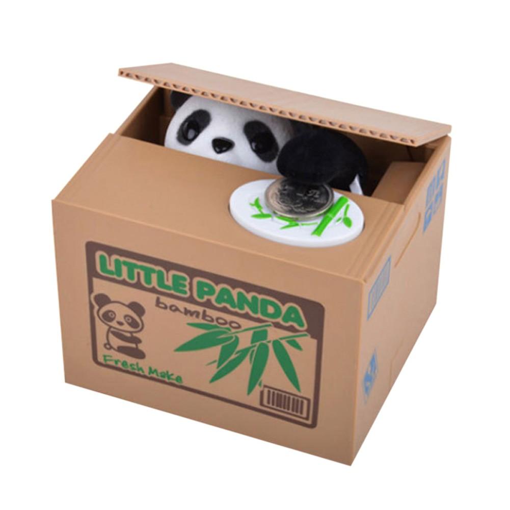 存錢罐裝飾擺件偷錢熊貓儲蓄罐送兒童生日