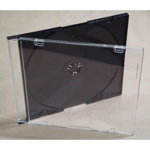 ~臺灣 ~12CM ─5mm slim case 黑底PS 壓克力CD 盒DVD 盒光碟盒