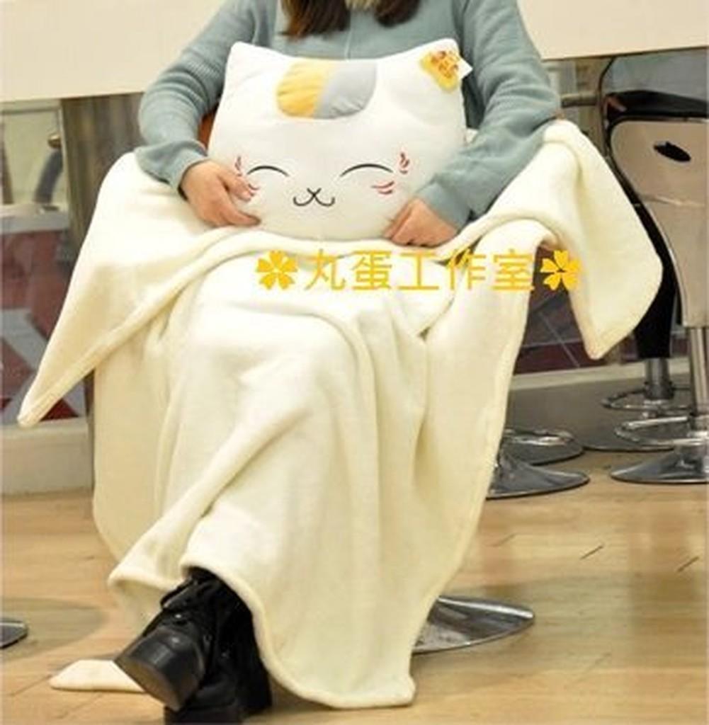~丸蛋工作室~貓咪老師三合一抱枕插手枕毯子大小:100x150cm 同人