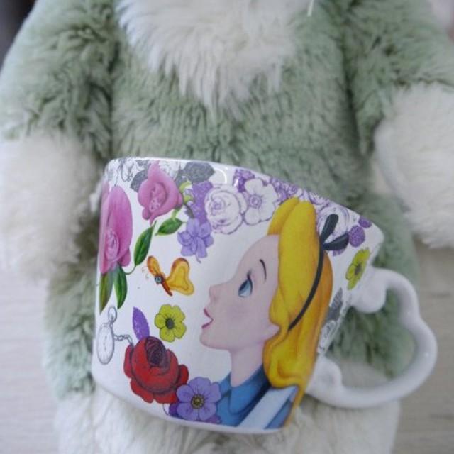 東京迪士尼樂園帶回愛麗絲夢遊仙境愛心 馬克杯一 送禮