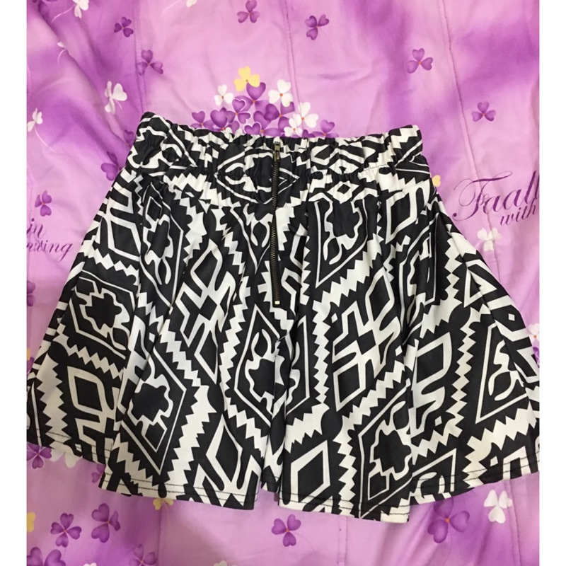 ❤️波西米亞拉鍊高腰裙子~毛呢高腰鬆緊窄裙~牛仔褲裙丹寧牛仔~黑色直條紋顯瘦褲裙 ML
