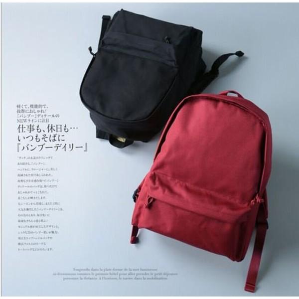 日韓連線無印簡約帆布雙肩包良品包包男女純色包 背包學生書包旅行包電腦包後背包
