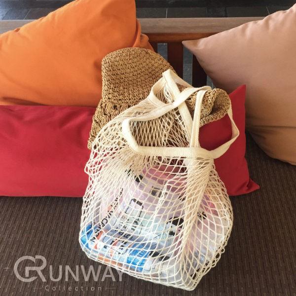編織鏤空沙灘包全棉 袋環保袋手提包