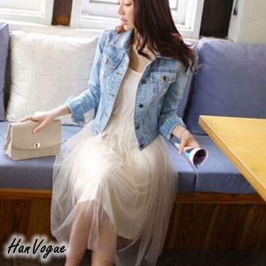 氣質款網紗連身長裙無袖背心式連身紗裙3 色韓衣風格HV220301