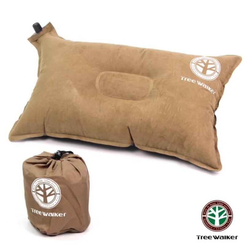 植絨防滑自動充氣枕頭(麂皮絨滴塑布)
