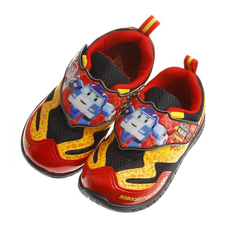 童鞋POLI 救援小英雄波力大集合紅黑反光透氣輕便 鞋16 20 公分BCX422A