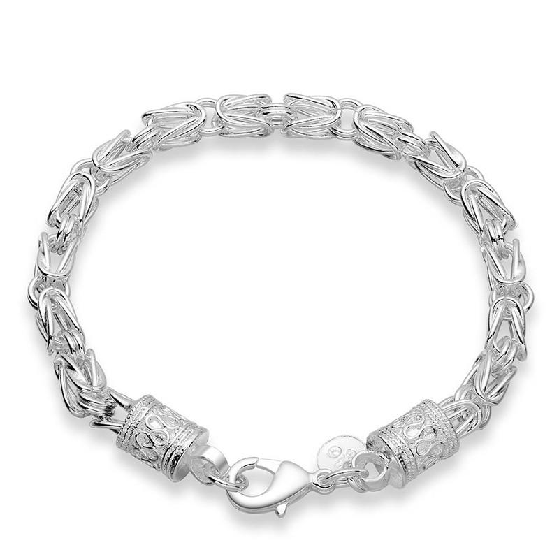 簡約男款銀手鍊中性潮 質帥氣圓形銀飾鍊式手鍊浪漫情侶送禮女友男友 BR027