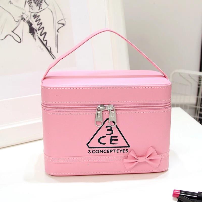 3ce 化妝箱 大容量化妝箱防水化妝品收納包手提化妝包