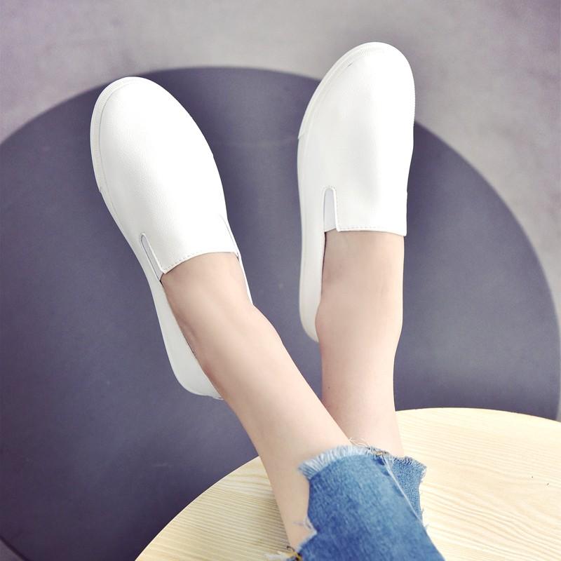 ❤ !❤2017 春 小白鞋女一腳蹬學生平底百搭 鞋白色單鞋板鞋