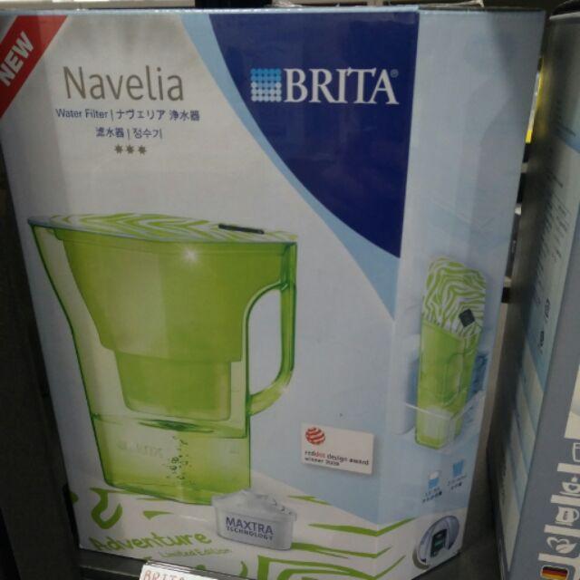 德國BRITA Navelia 2 3L 若薇亞型濾水壺探險綠~ 一支濾芯,再送一支~