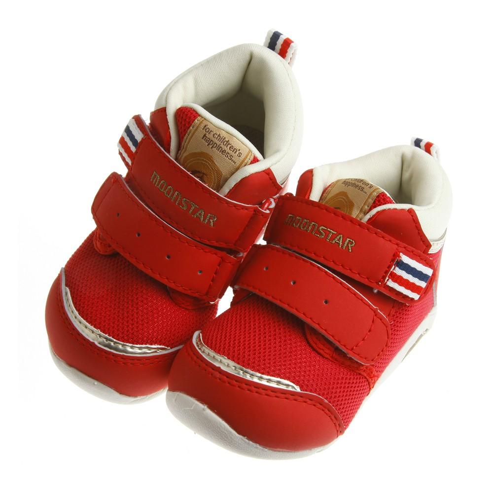 童鞋Moonstar Carrot 紅色英倫帥氣中筒寶寶機能學步鞋12 5 14 5 公分