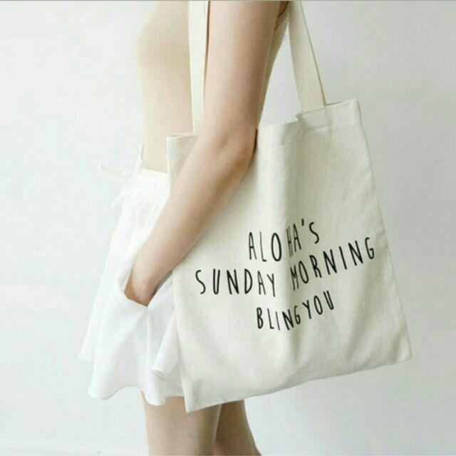 BoBo ❤ 文藝帆布單肩背包袋❤簡約❤