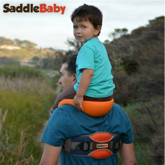 美國SaddleBaby 馬鞍肩背帶兒童坐騎神器兒童背帶