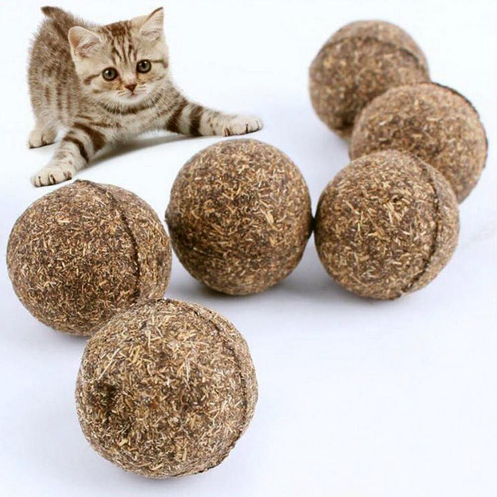 寵物純天然野生貓薄荷球玩耍去毛球3 2cm 貓零食5 個一賣(下單備註5 個一裝)