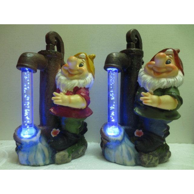 ㊕光控太陽能燈精靈小矮人樹脂燈庭院燈花園燈別墅燈A0236 4