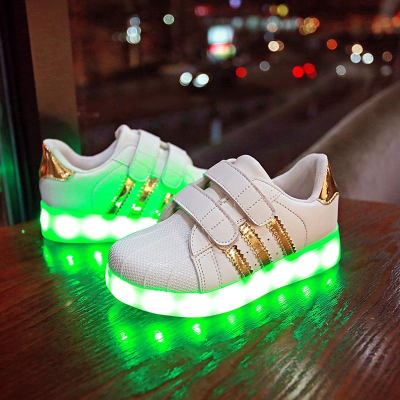 款兒童發光鞋usb 充電男童鞋亮燈鞋女童鞋夜光鞋led 七彩閃光鞋