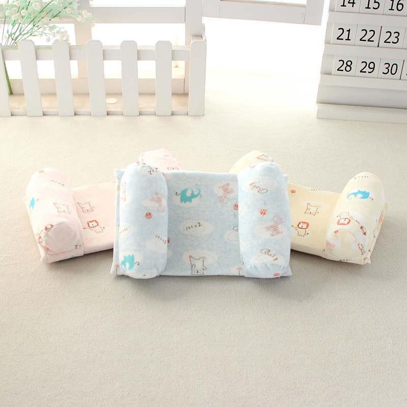 夏冬兩用可調節寶寶嬰兒枕睡頭型枕冰絲涼席