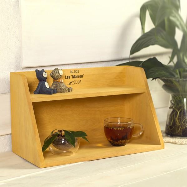 Zakka 雜貨木頭木質收納收納櫃實木典雅鄉村裝飾裝飾櫃矮櫃兩層櫃