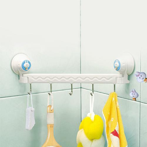 皓哥小鋪多 吸盤廚房衛浴牆角五掛勾廚房衛浴皆可 五組掛勾空間有效利用