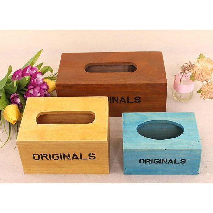 抽取式木頭木製面紙盒衛生紙盒復古鄉村餐廳民宿樸素原味~小號 區~NCEV92