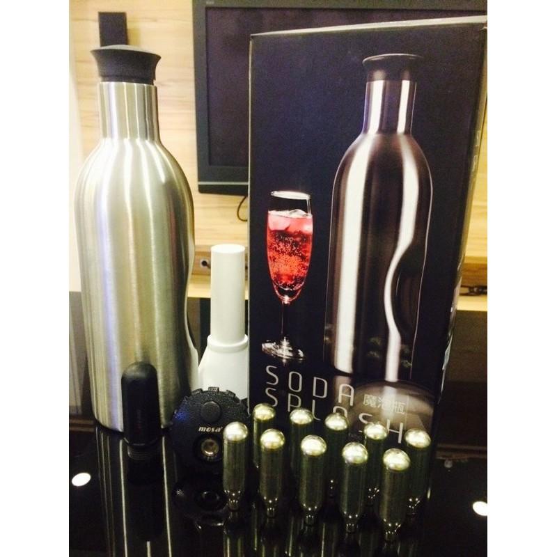 1 10 顆CO2 氣彈小鋼瓶~Soda Splash ~1 2L 魔泡瓶氣泡水機DIY