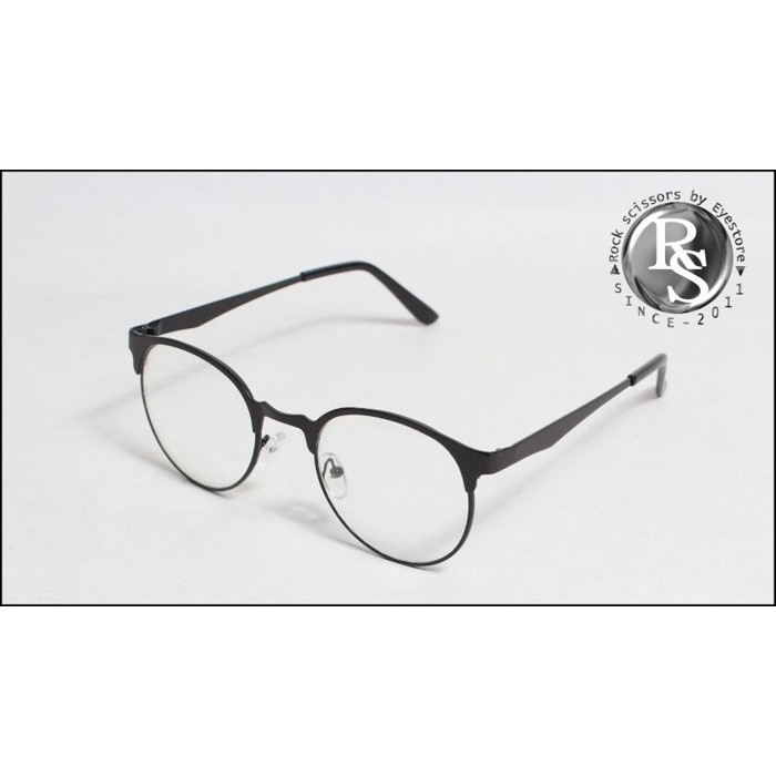 Rock scissors 韓國製ic berlin 感平民版金屬 復古細邊橢圓框平光眼鏡