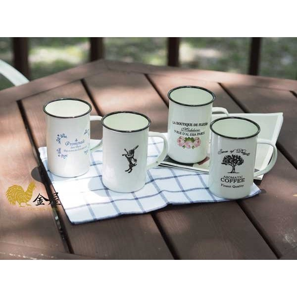 小法國琺瑯系列 專賣仿舊搪瓷杯琺瑯杯露營小物 文青革命風波蘭Emalia 可參考 出貨