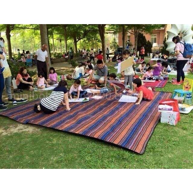 超大野餐墊300 300cm 防水墊附收納袋民族風地墊睡墊防潮墊露營野餐戶外活動